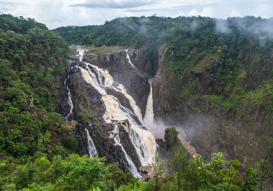 Barron falls Kuranda in flood
