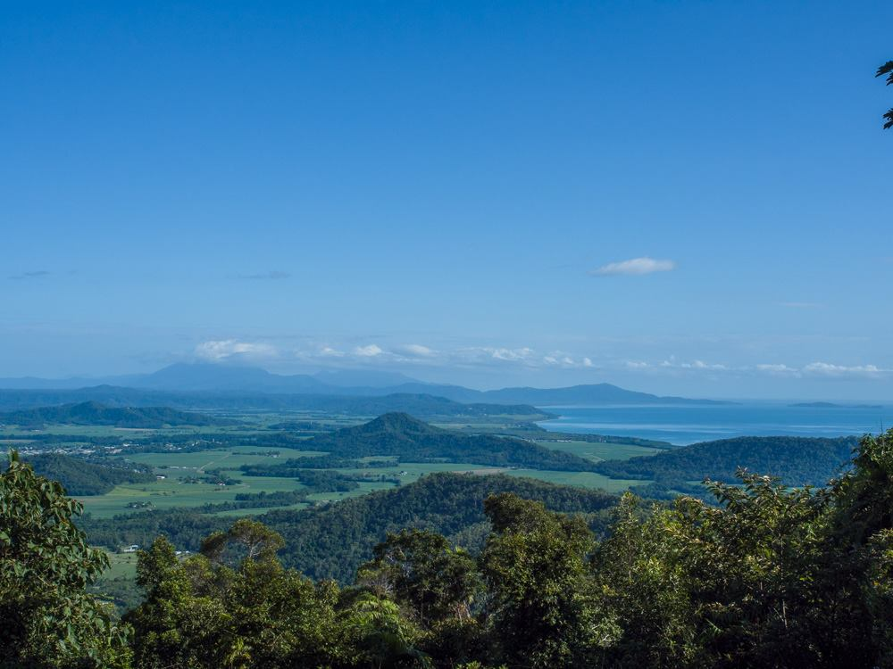 Looking towards the Daintree National Park and Mossman Gorge on our Port Douglas rainforest tour
